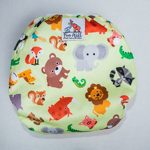 One Size Fits Most Reusable Swim Diaper ANIMALS