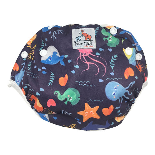 One Size Fits Most Reusable Swim Diaper SEA LIFE