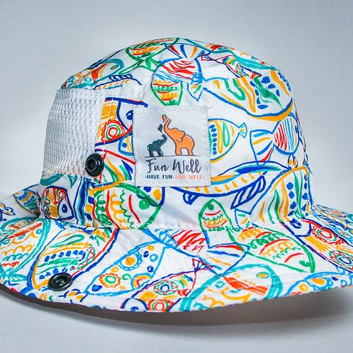 UPF/SPF 50 Sun Hat ART FISH