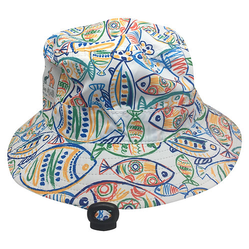 UPF/SPF 50 Sun Hat ART FISH