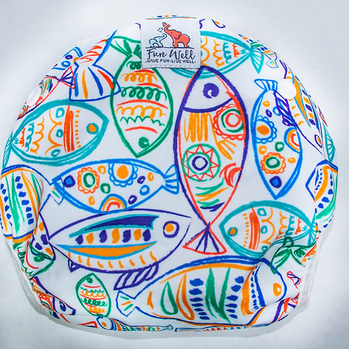 One Size Fits Most Reusable Swim Diaper ART FISH
