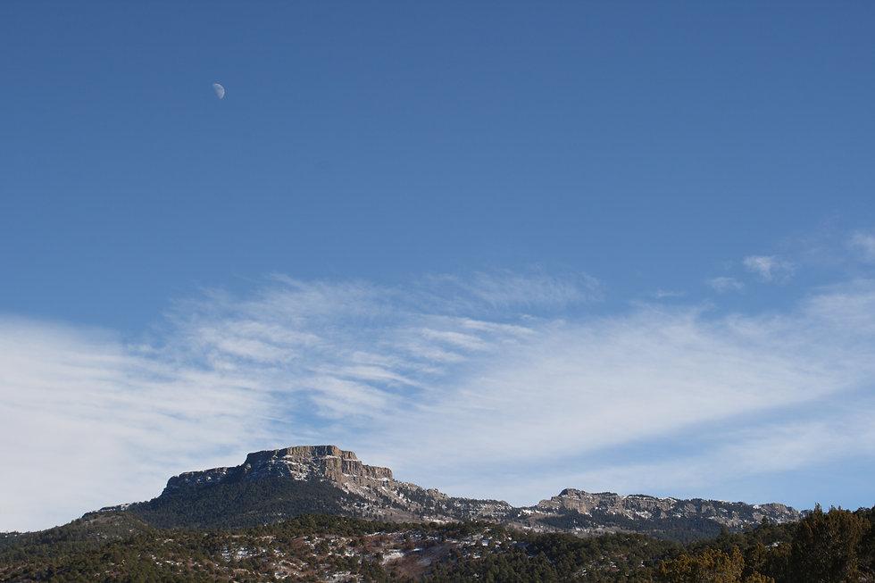 Moon over El Moro - a nearly-half moon i