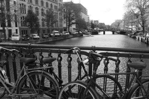 Bikes are everywhere in Amsterdam