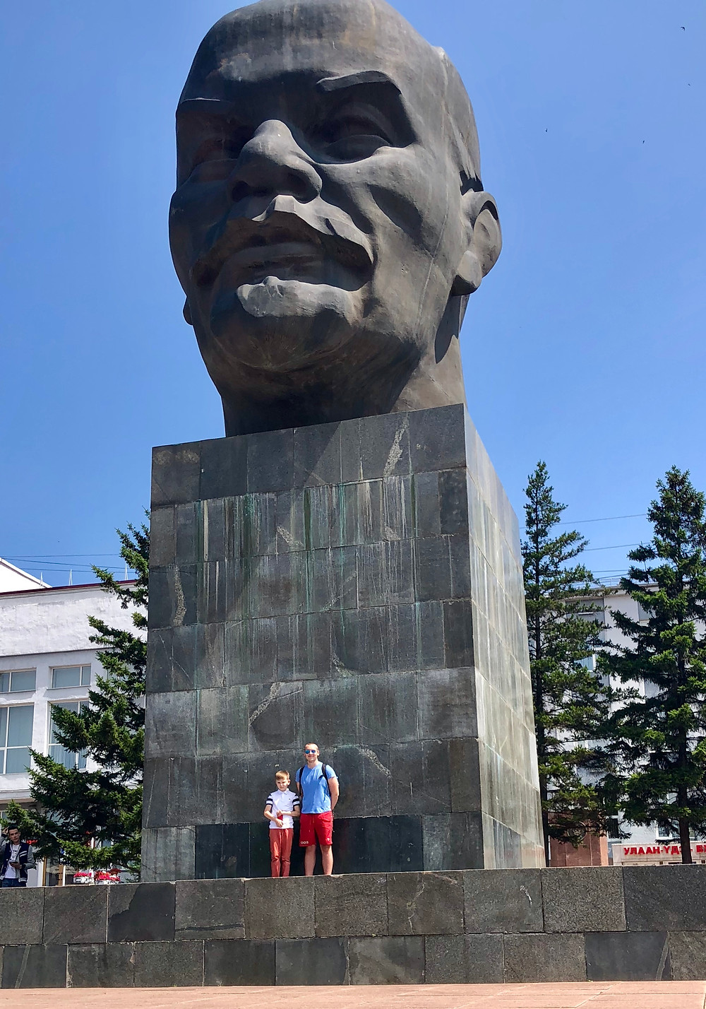 Me & Pasha in front of the Lenin head