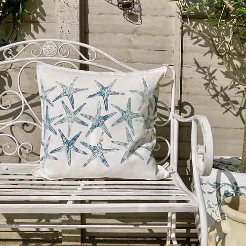 White 'Sea Stars' Cushion