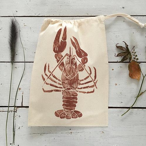 Lobster Drawstring Bag Cream