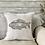 Thumbnail: Vintage Linen Cushion - 'Amazing Catch'