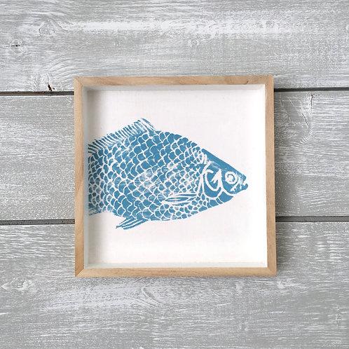Blue Coy Carp Art Frame