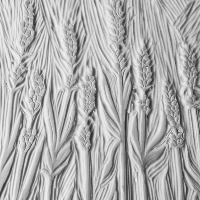 Lavender Linocut Detail