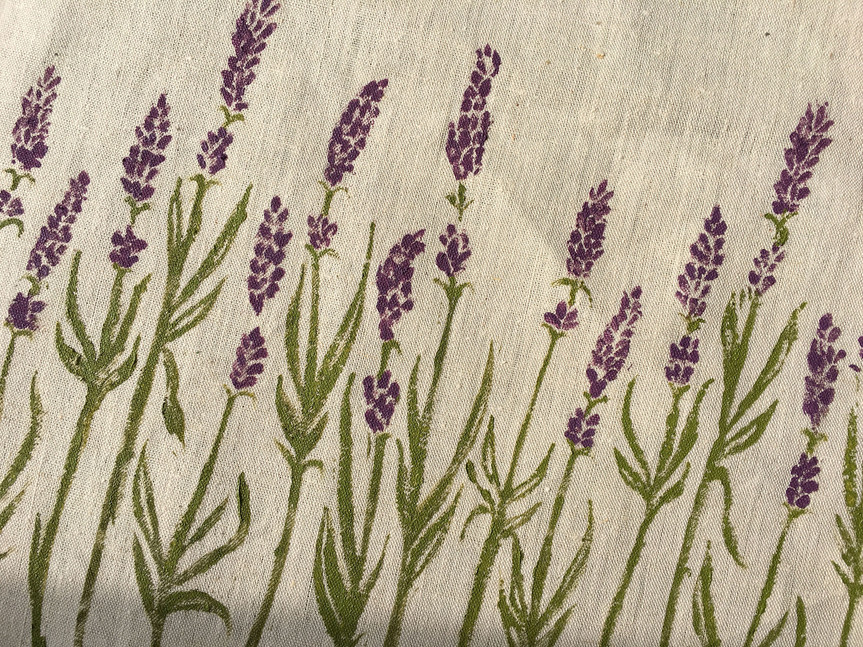 Lavender Linocut Print