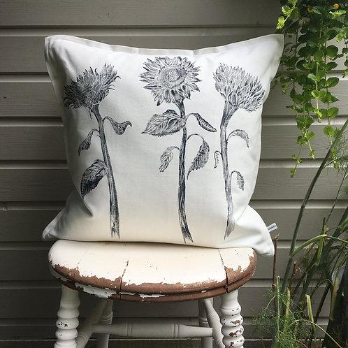 Sunflower Cushion White