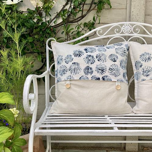 Vintage Cotton Scallop Cushion