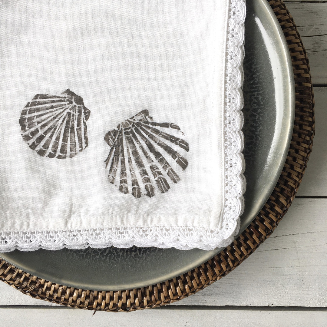 The Shell Design Flax Napkins