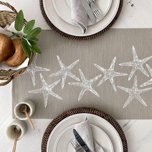 Natural Sea Stars Table Runner