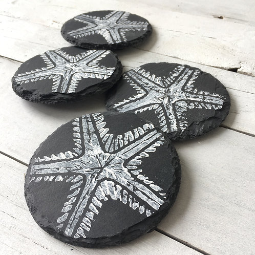 Set of 4 Starfish Slate Coasters