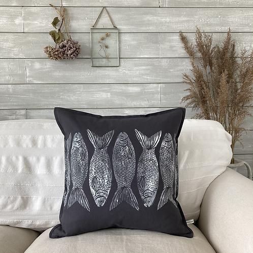 Cotton 'Deep Ocean' Cushion