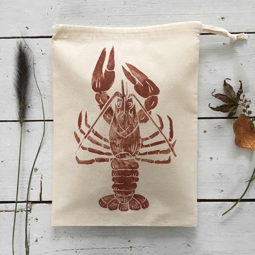 Lobster Drawstring Bags