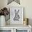 Thumbnail: Mr Hare Framed Art Print - White