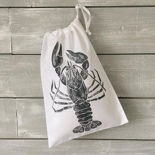 Lobster Drawstring Bag White