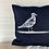 Thumbnail: Denim 'Seagull Print' Cushion