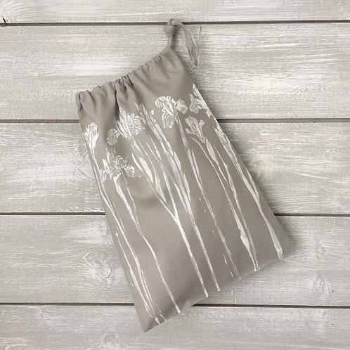 Iris Drawstring Bag Grey