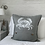 Thumbnail: Grey Linen Crab Cushion