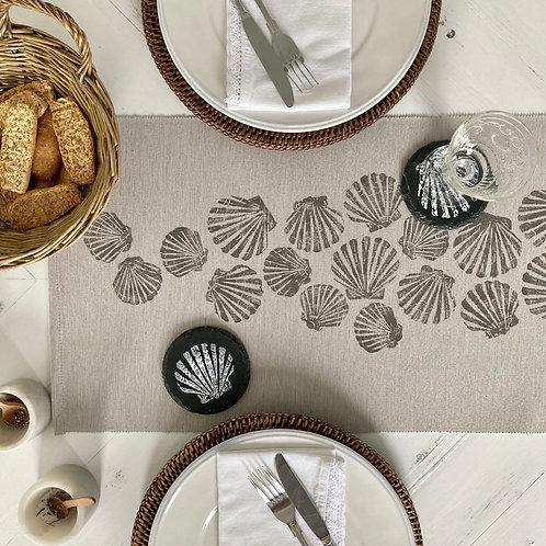 Natural Scattered Shells Table Runner