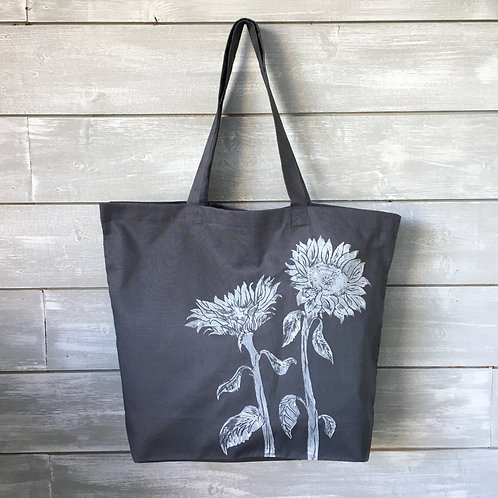 Granite Grey Sunflower Shopper Bag