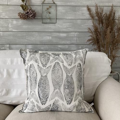 Cotton 'Shoal of Fish' Cushion