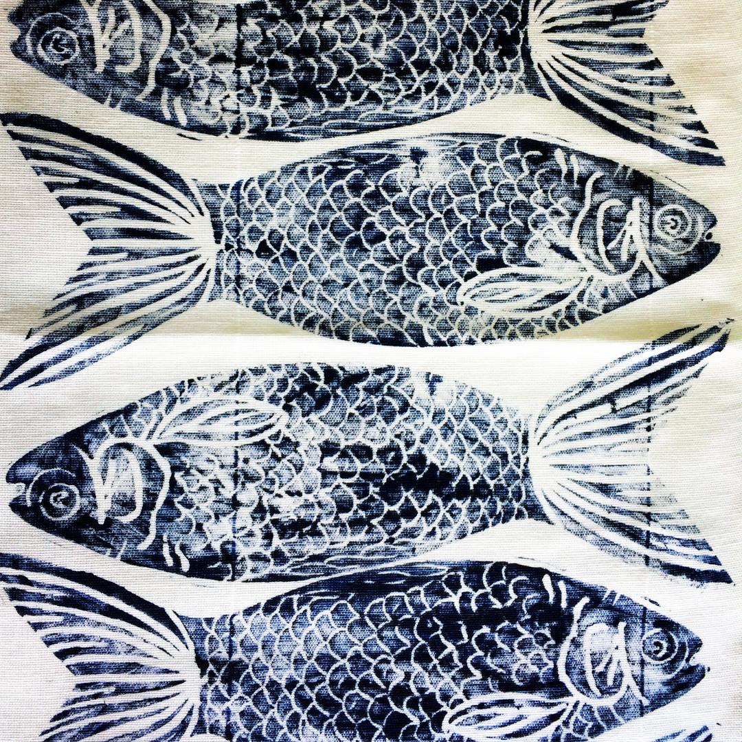 Printed Lavender Fish