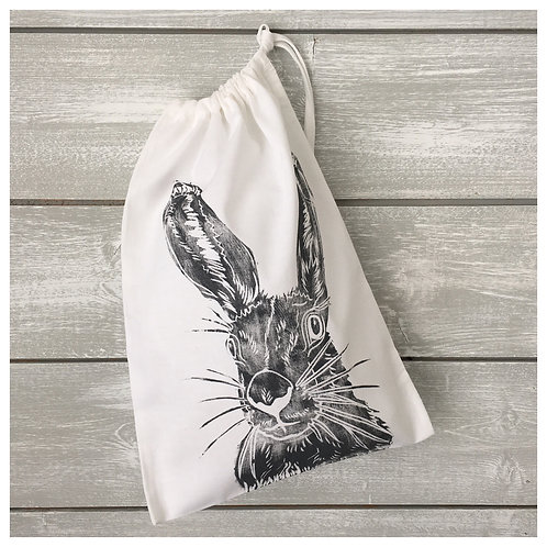 Mrs Hare Drawstring Bag White