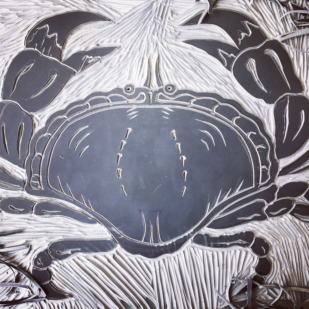 Crab Linocut