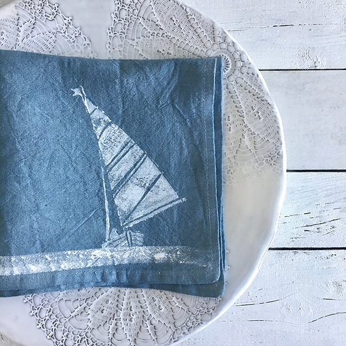 2pk Sail Boat Napkins Ocean Blue
