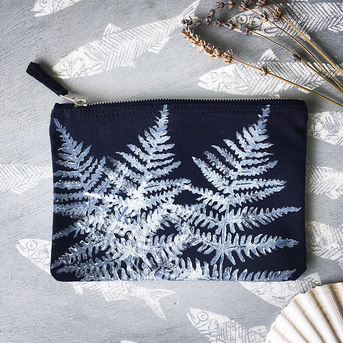 Navy Small Fern Case