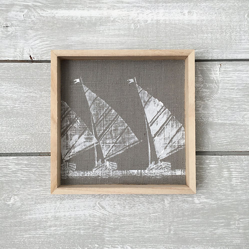 Grey Boat Race Art Frame