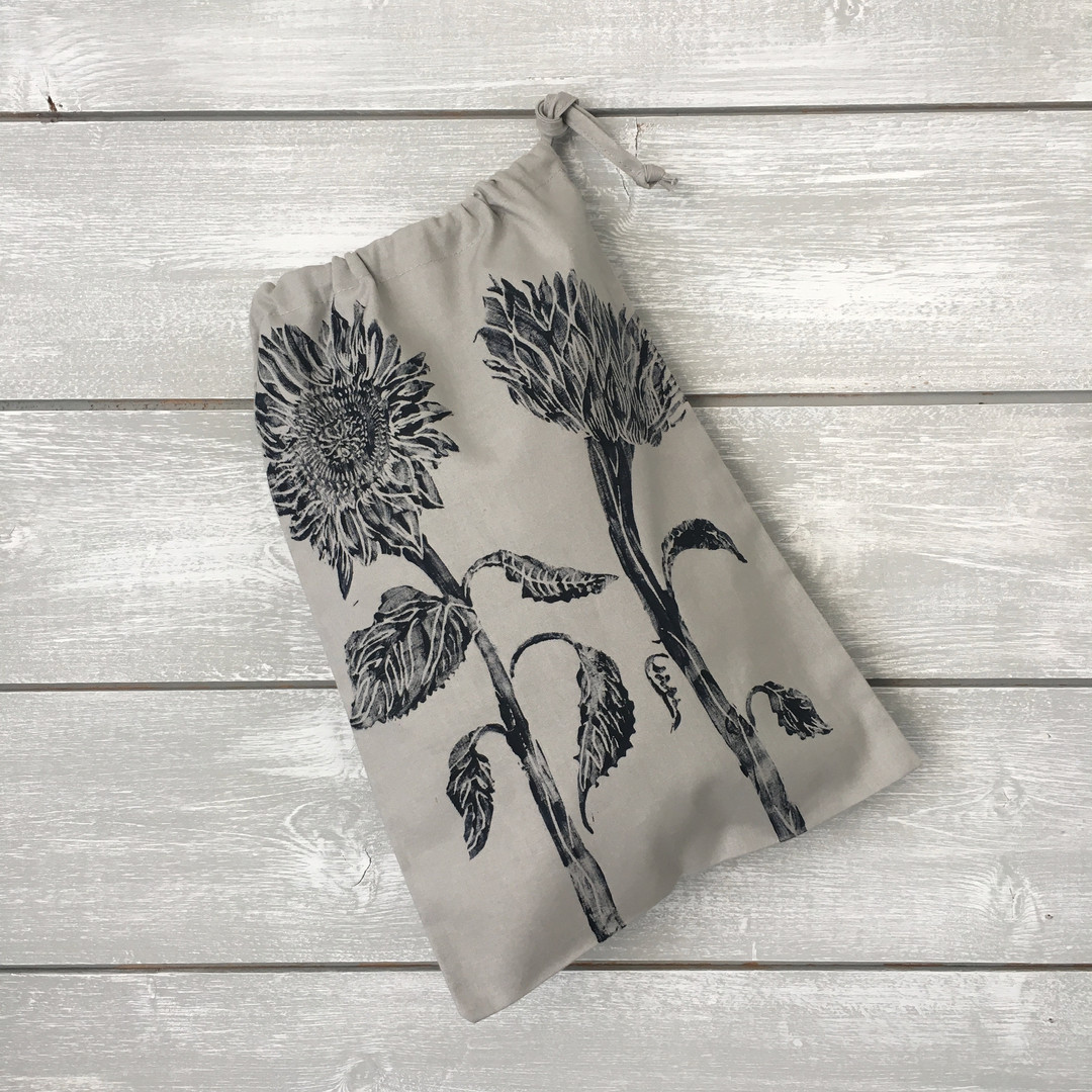 Grey Sunflower Bag
