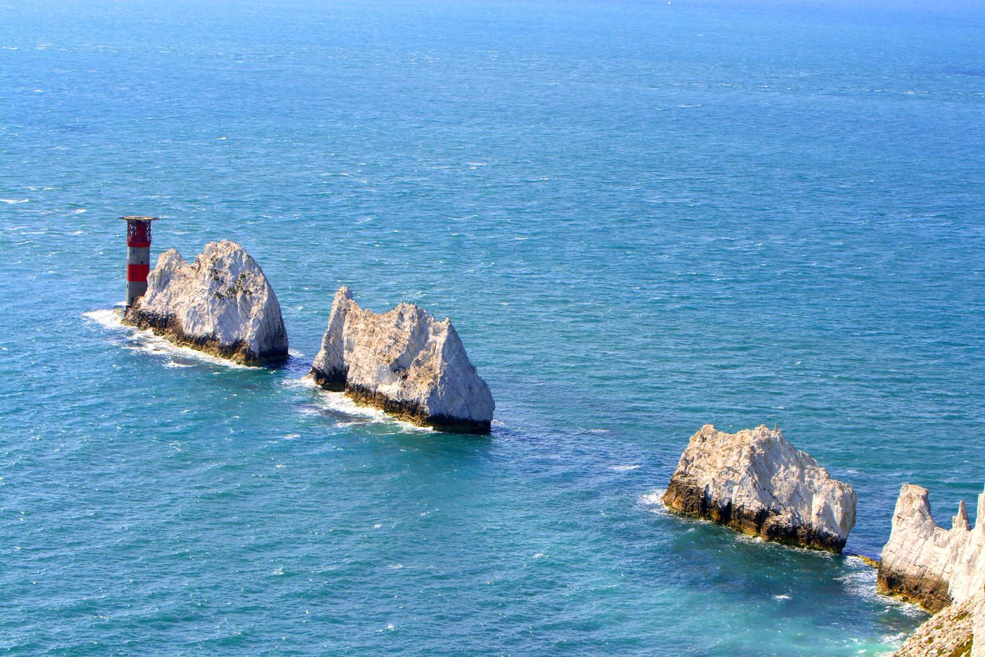 The iconic Needles landmark is just 15 minutes drive