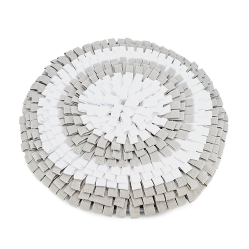 Doxie® Snuffelmat – ⌀ 50 cm – Lichtgrijs met Wit