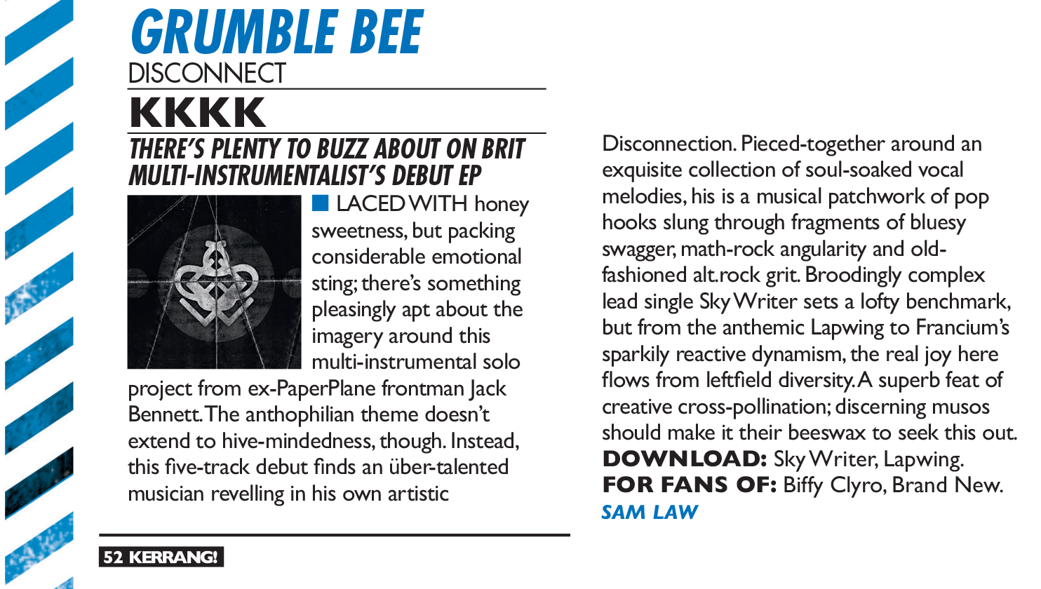 Grumble Bee - Kerrang! Review