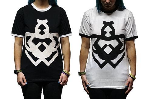 Black & White Ringer Contrast T-Shirts