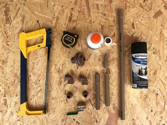 Materiais pra montar uma torneira industrial