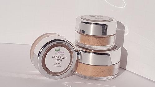 Vegan Blush Makeup   Earthy Brown   Raw Beauty Minerals