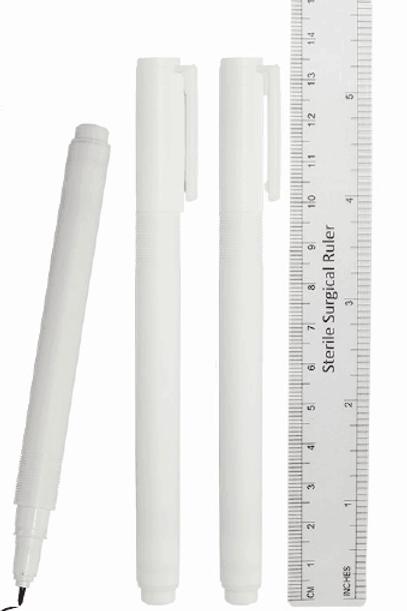 Steril Markeringspenna och linjal