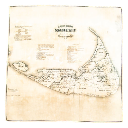 Vintage Nantucket Pocket Square