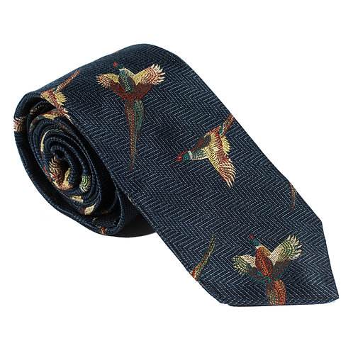 Turnberry Woven Silk Neck Tie - Navy