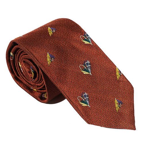 Inverness Woven Silk Neck Tie - Rust