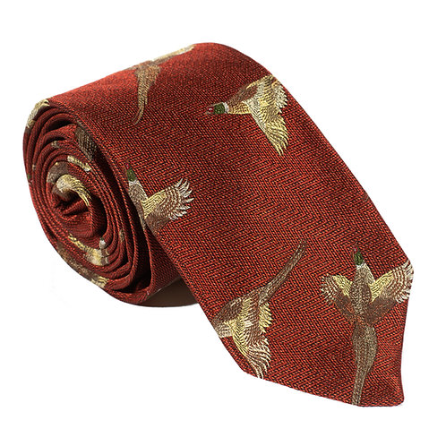 Turnberry Woven Silk Neck Tie - Rust