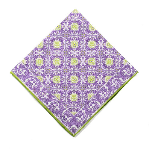 Azulejos - Lime/Purple