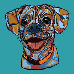 Commison happy pup