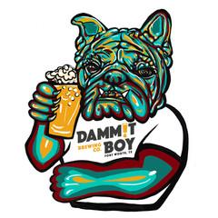 Dammit Boy Beer logo